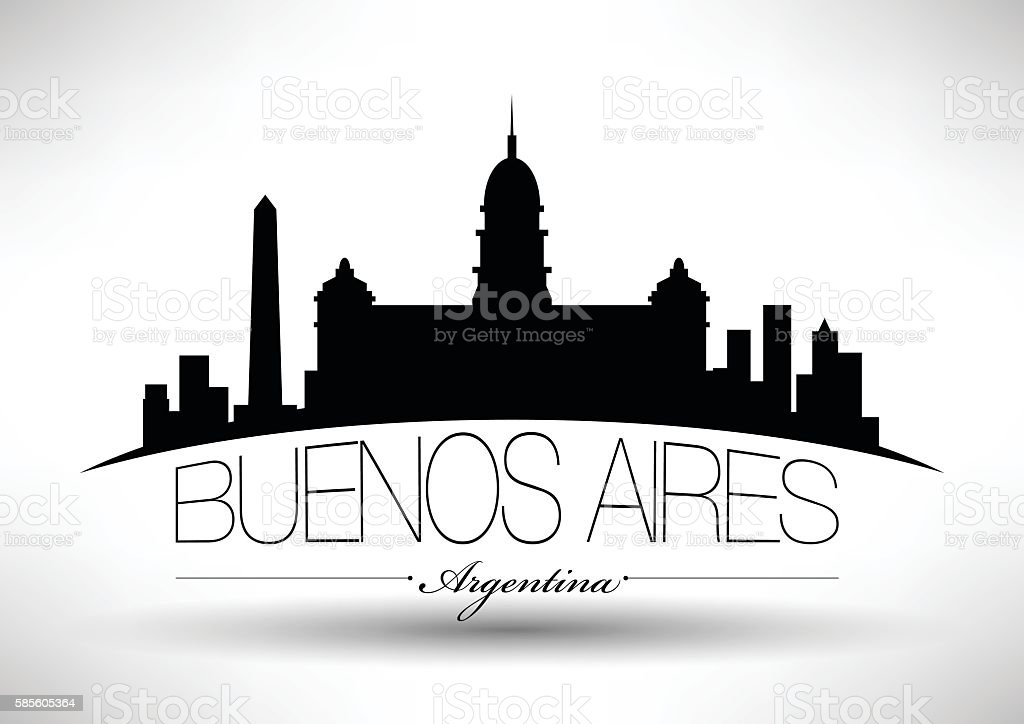 Vector Buenos Aires City Skyline Design vector art illustration