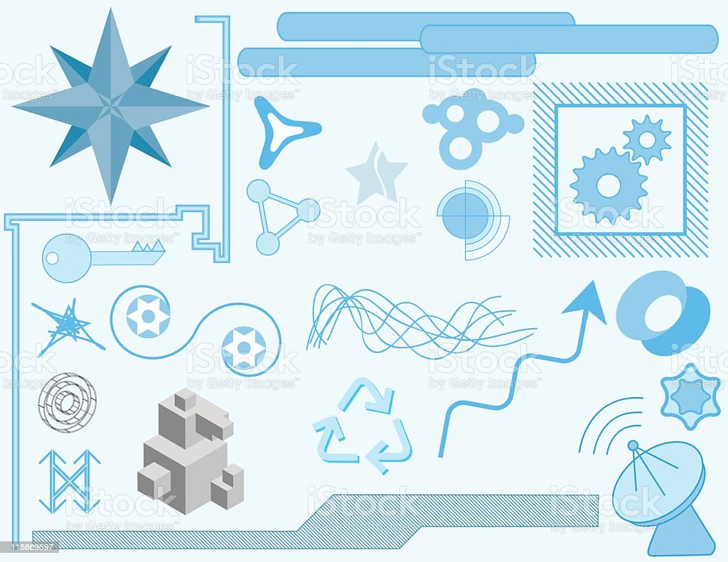 Vector Building Blocks 4 royalty-free stock vector art