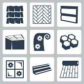 Vector building materials icons set