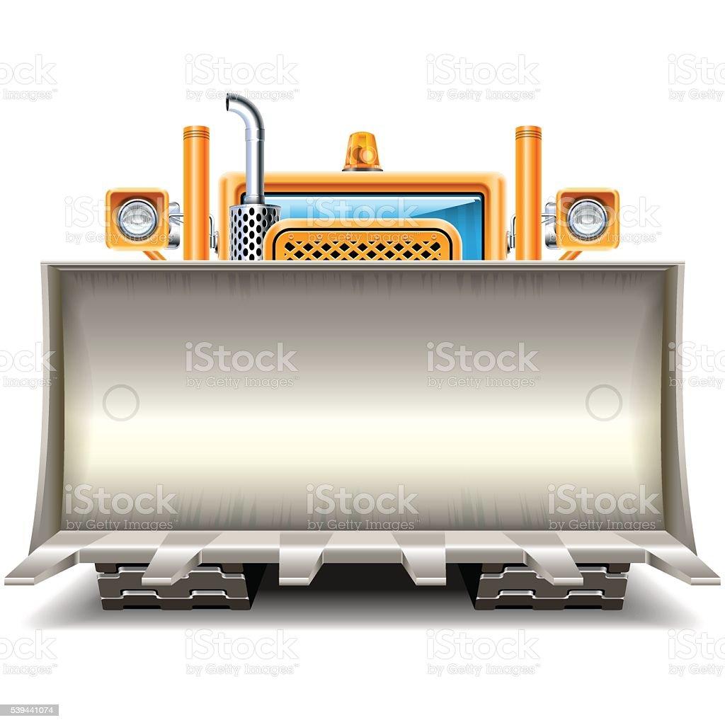Vector Bulldozer Shovel Frame vector art illustration