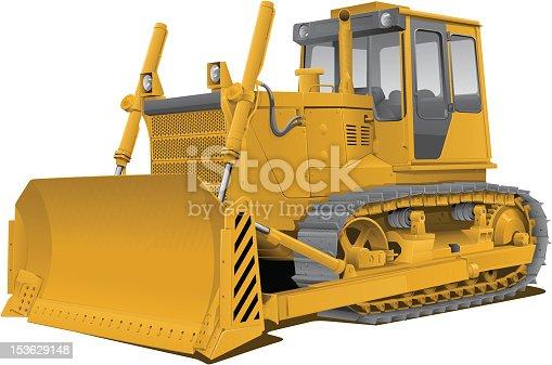 istock vector bulldozer 153629148
