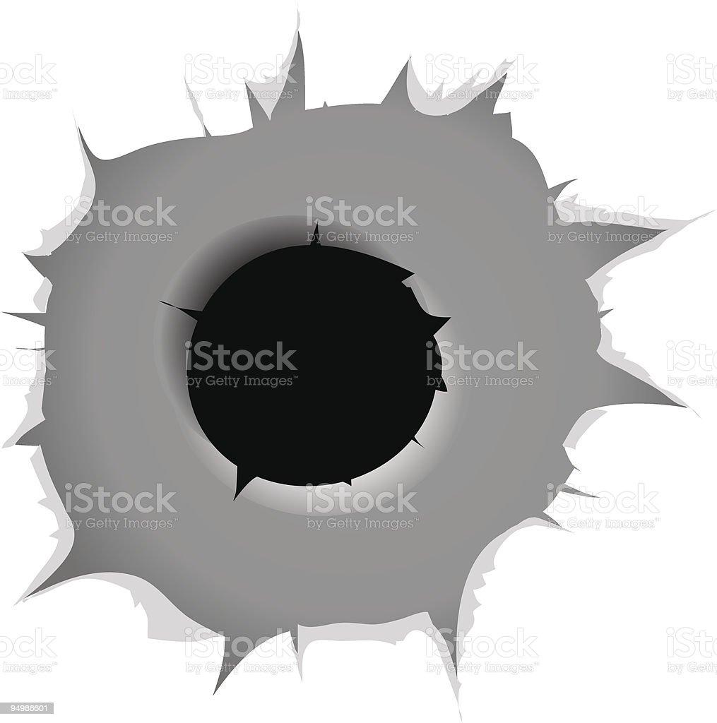Vector bullet hole royalty-free stock vector art