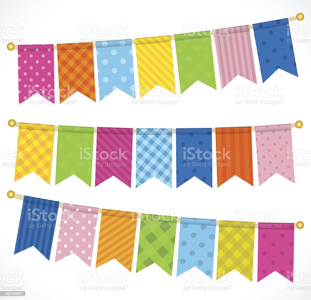 Vector bunting flags royalty-free stock vector art
