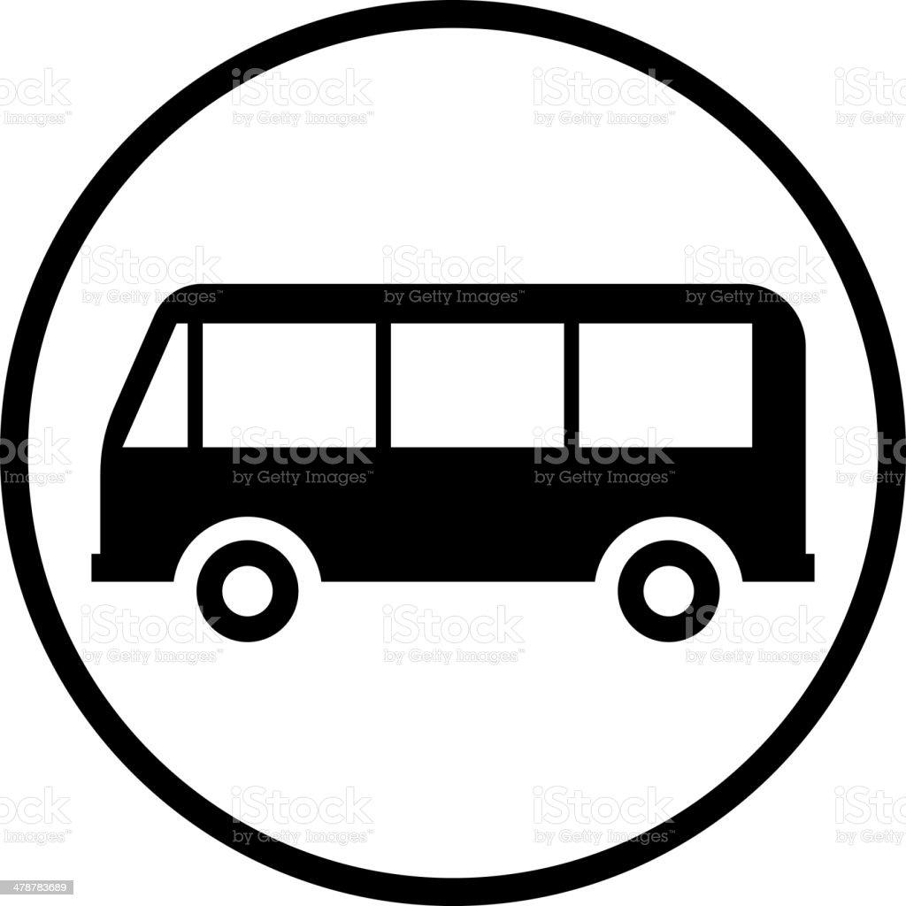 Vector bus icon vector art illustration