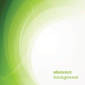 Vector business background with abstract circles and glowing lines. Design with place for your content.