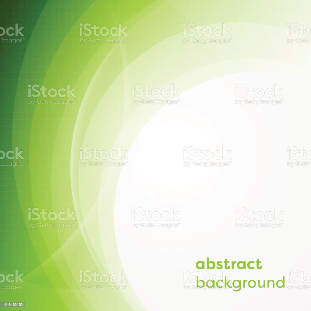 Vector business background with abstract circles and glowing lines. vector art illustration