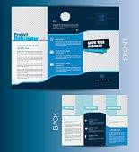 Vector Tri fold Business Brochure Template Design