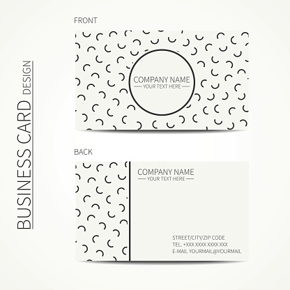 Vector  business card design. Business card. Trendy calling card.