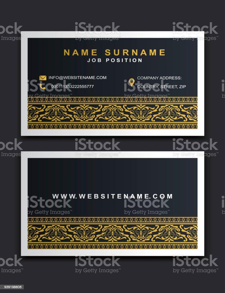 Vector Business Card Design Creative Elegant Style Identity Template ...