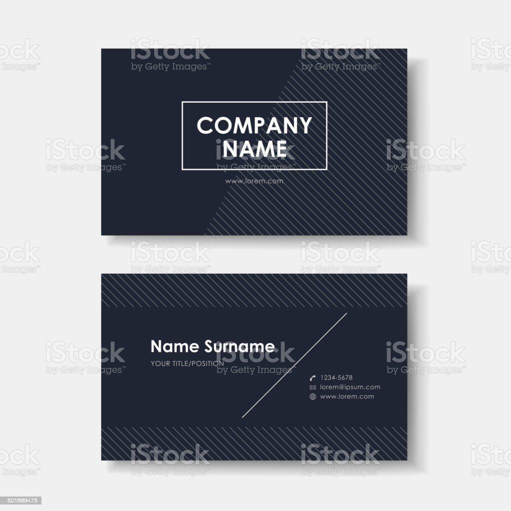 vector business card design of black minimalistic vector art illustration