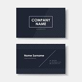 vector business card design of black minimalistic