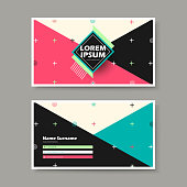 vector business card design template of geometry