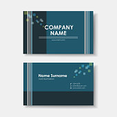 vector business card design template of minimalistic