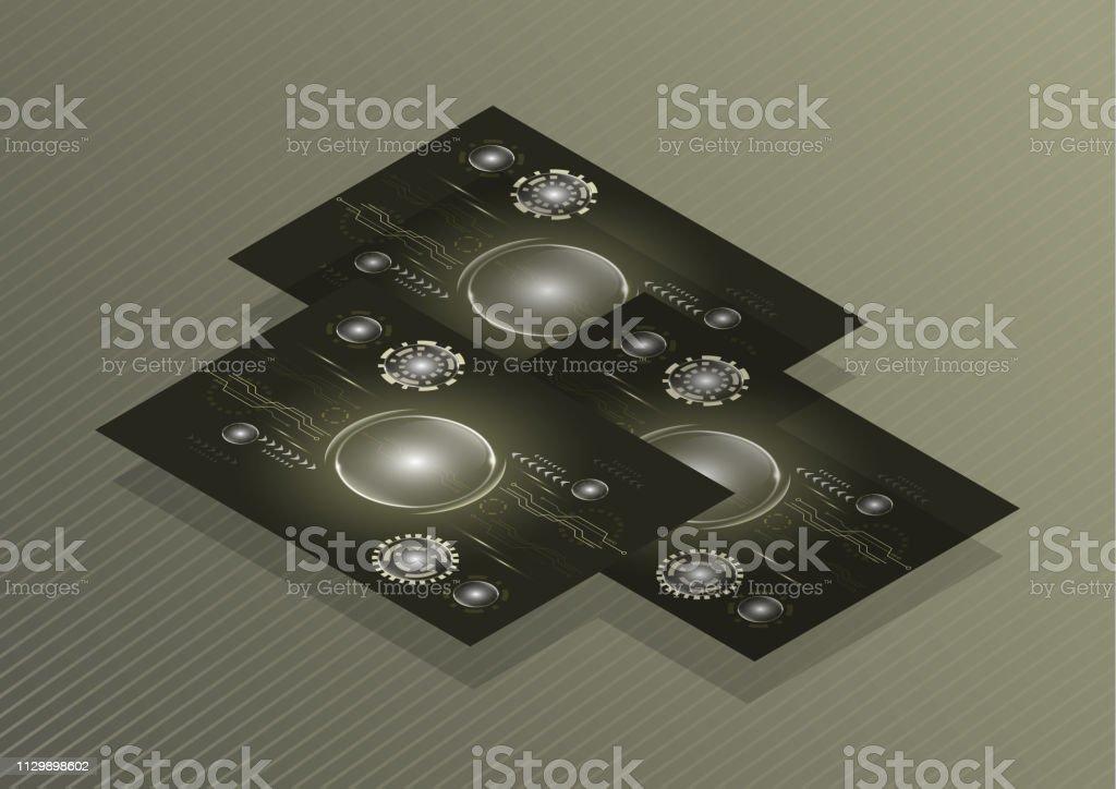 Vector Visitenkarte Vorlage Flyer Mit Technischem