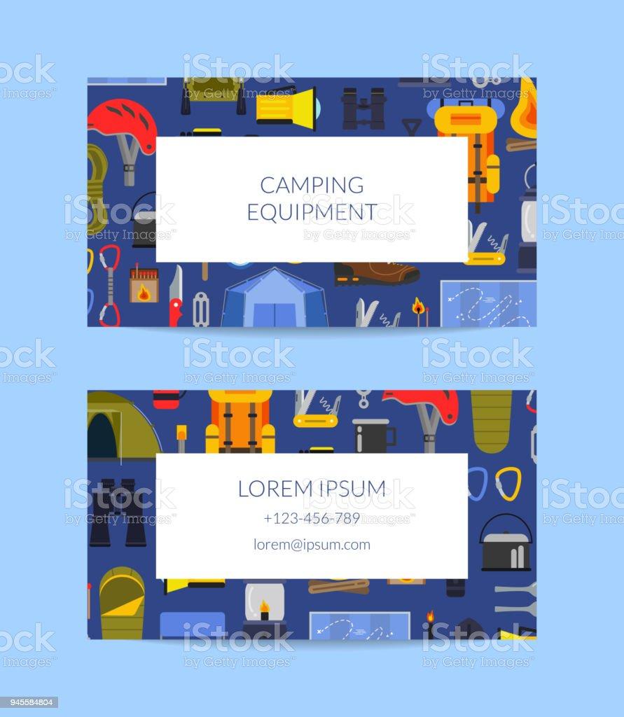 Banderole Camping Carte Pique Nique Tente Modele De Visite