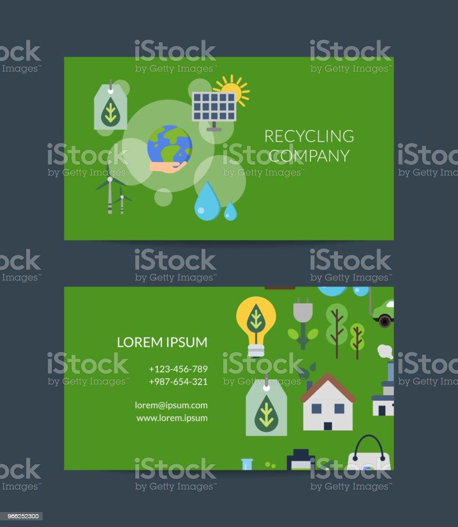 Vektorvisitenkartevorlage Für Das Recycling Stock Vektor Art Und Mehr Bilder Von Abstrakt