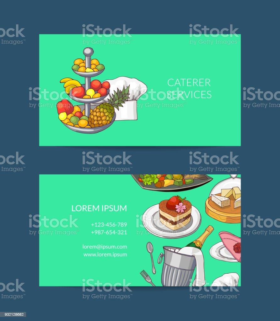 Modle De Carte Visite Vecteur Pour Restaurant Ou Traiteur