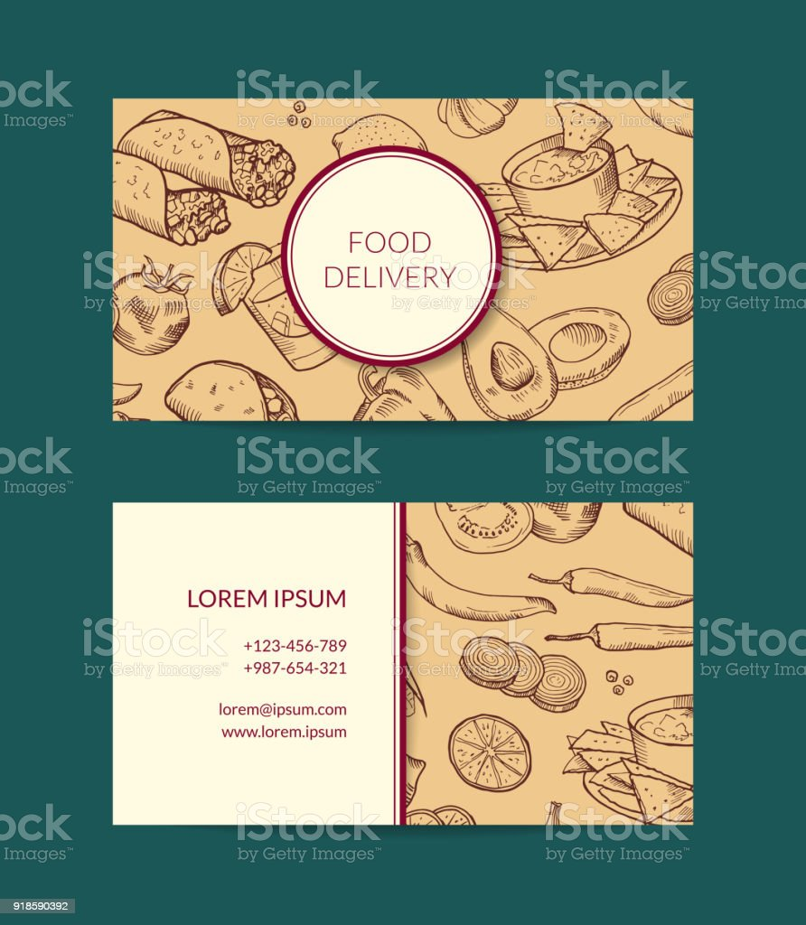 Vector business card template for restaurant shop or cafe stock vector business card template for restaurant shop or cafe royalty free vector business card accmission Choice Image