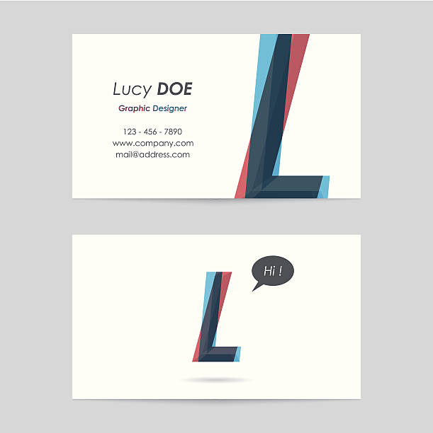 vector business card template - letter l vector business card template - letter l letter l stock illustrations