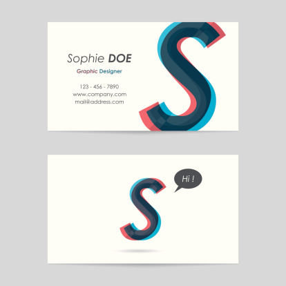 vector business card template - letter s