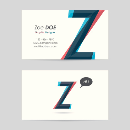 vector business card template - letter z