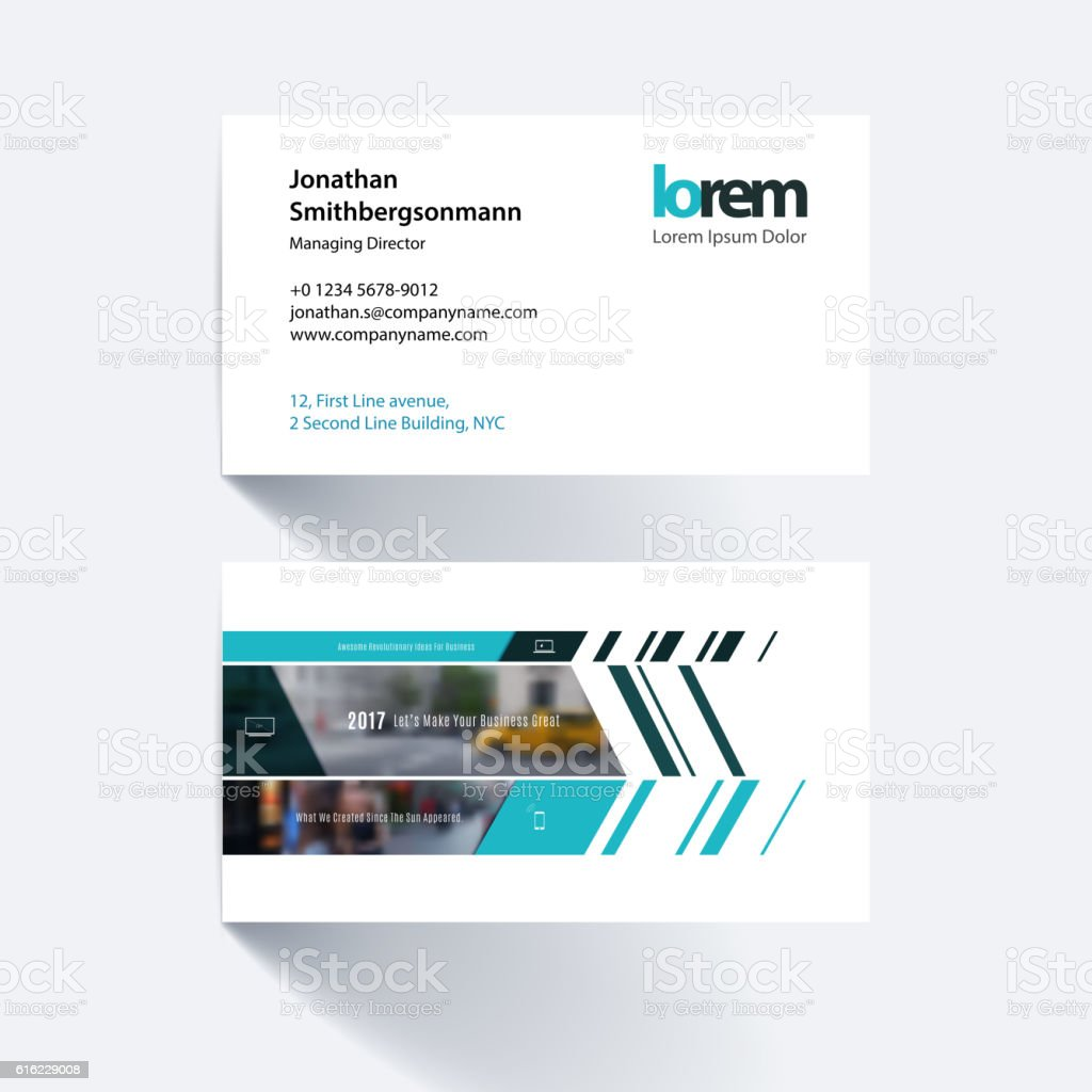 Vector Business Card Template With Banner And Diagonals For Eng - Free vector business card templates