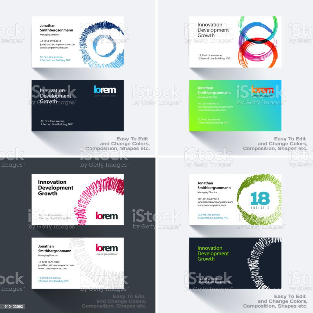 Vector business card template with with grunge colourful stroke vector business card template with with grunge colourful stroke royalty free vector business card template flashek
