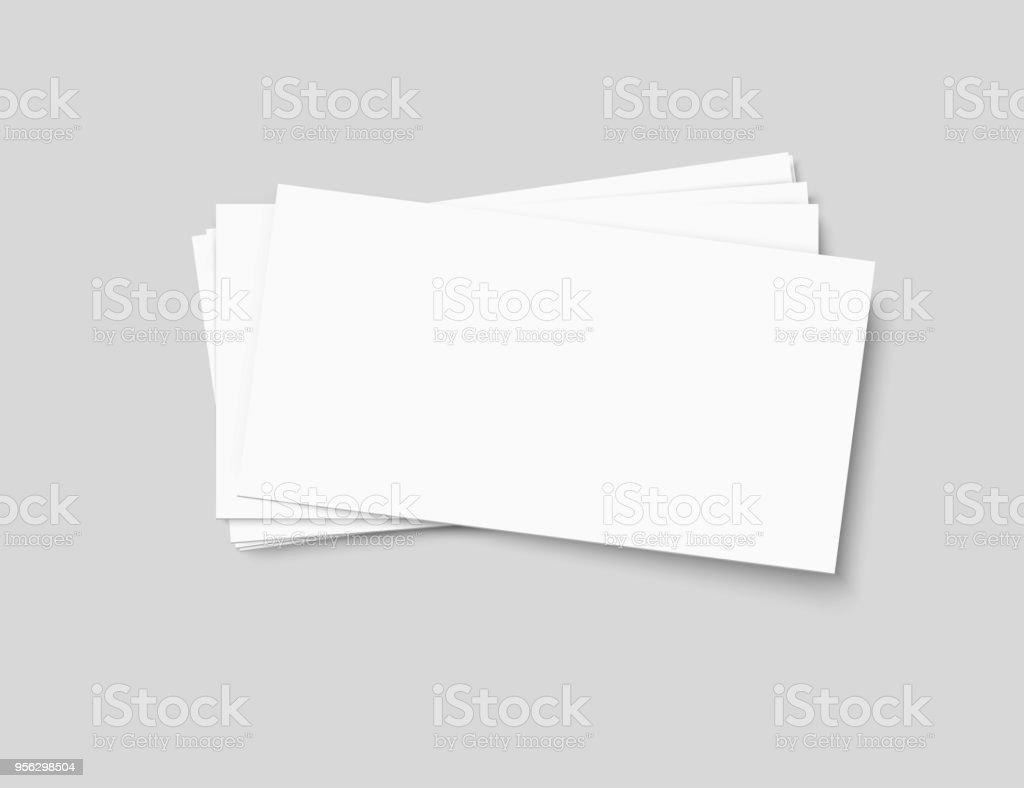 Pile De Cartes Visite Vectoriel Sur Fond Transparent