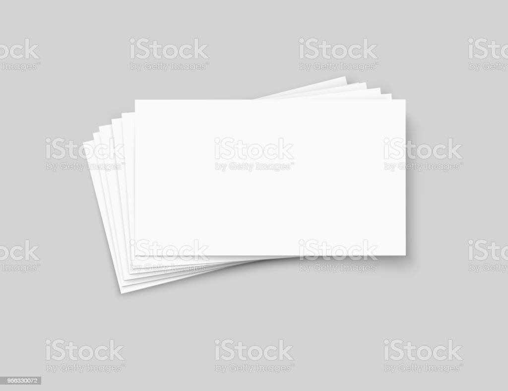 vector business cards stack on transparent background stock vector