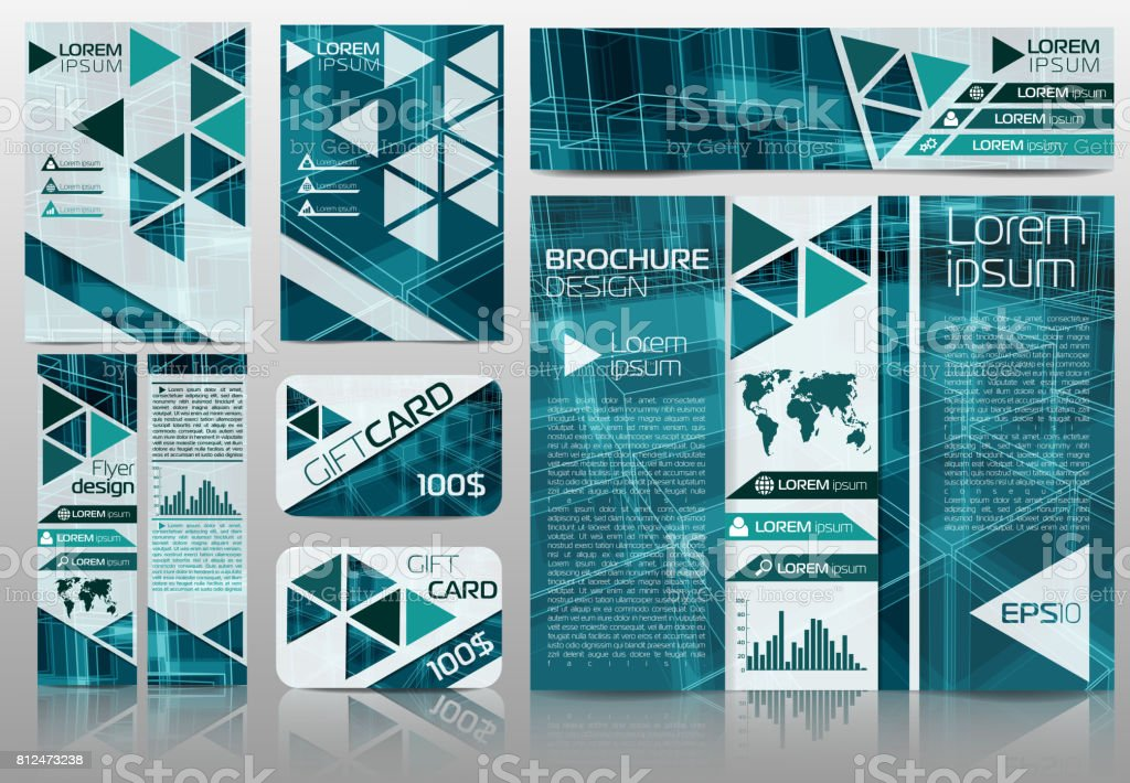 Vector Business Design Banners Gift Cards Cover Folders Booklets For
