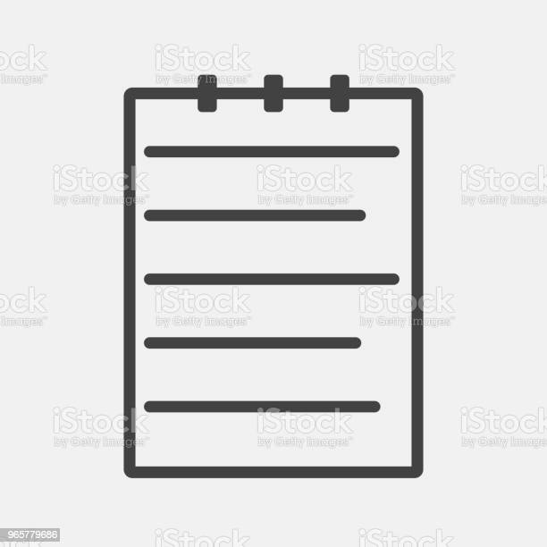 Vector Businessikonen Dokument-vektorgrafik och fler bilder på Anteckningsblock