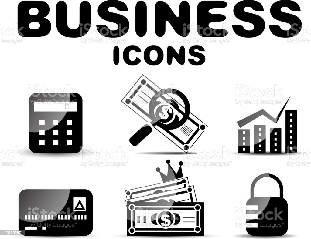 Vector business icons royalty-free stock vector art