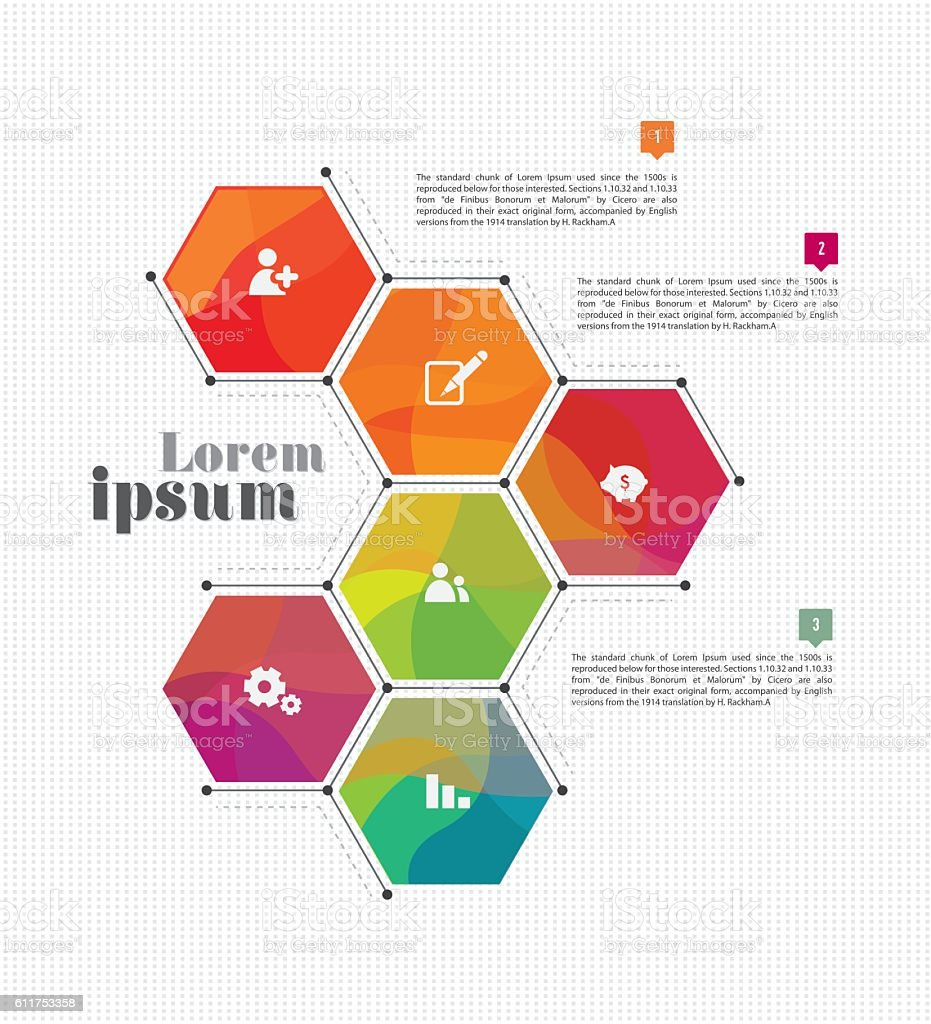 Vector Business Infographic Template Design vector art illustration