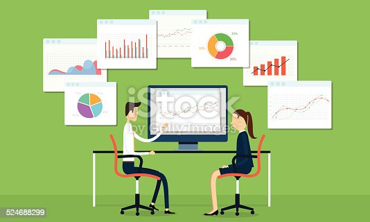611747524istockphoto Vector business people on marketing graph 524688299