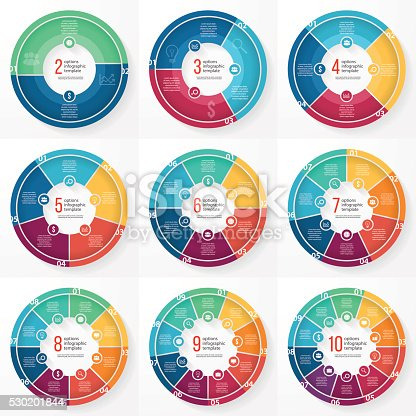 istock Vector business pie chart circle infographic set 530201844