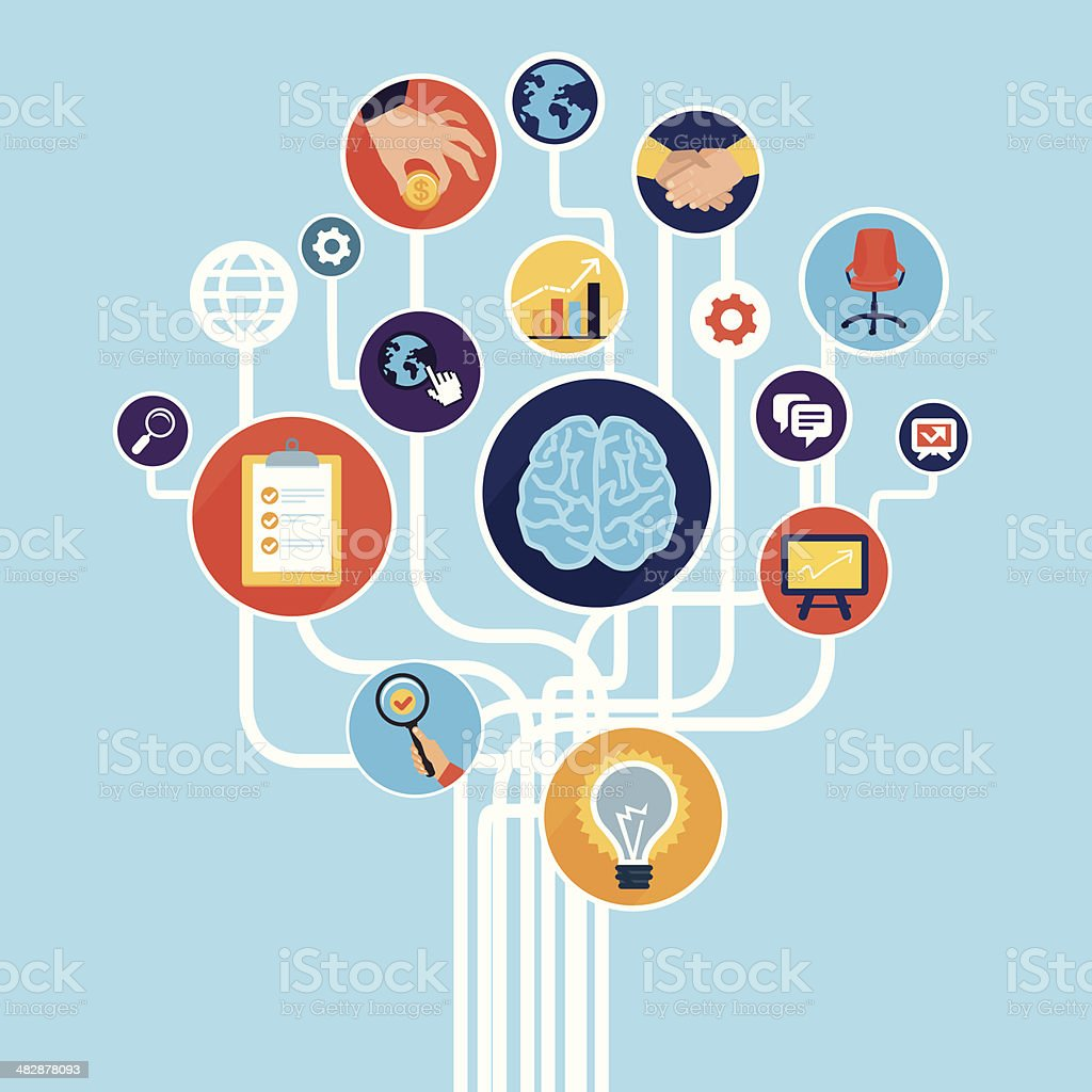 Vector business start up concept royalty-free vector business start up concept stock vector art & more images of brain