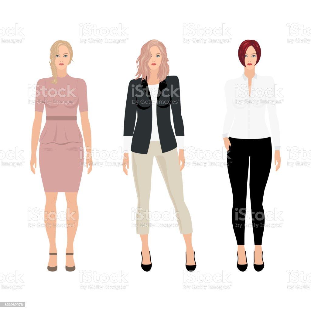 Mujeres de negocios de vector - ilustración de arte vectorial