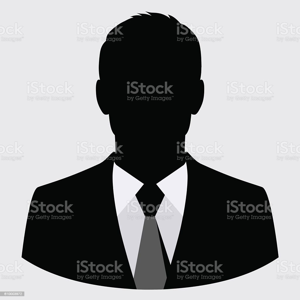 Vector businessman black silhouette isolated vector art illustration