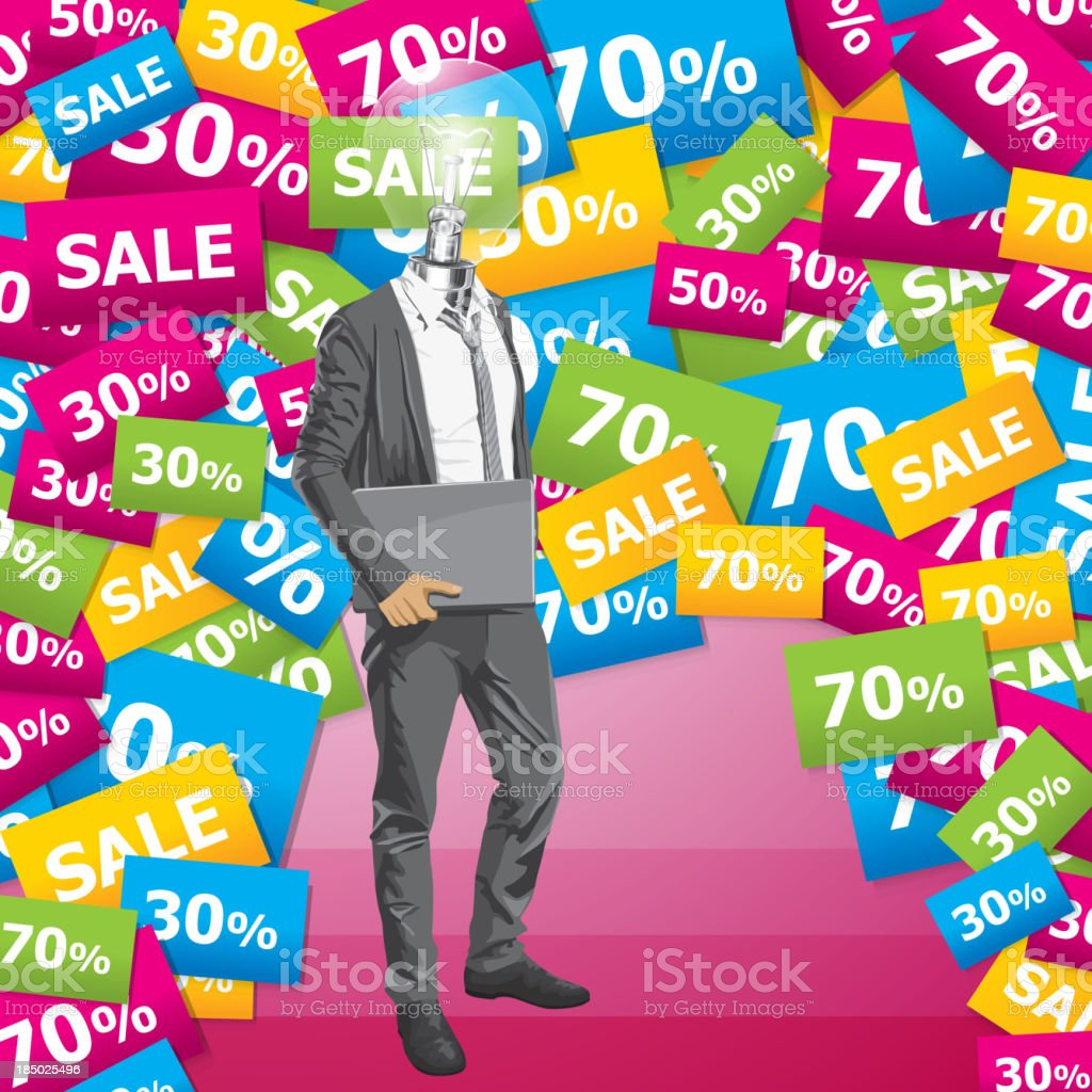 Vector Businessman In Suit royalty-free stock vector art