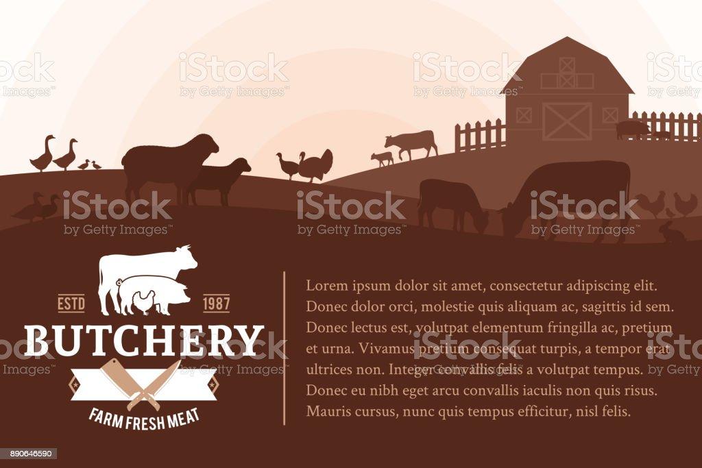 Illustration de vecteur butcher shop - Illustration vectorielle
