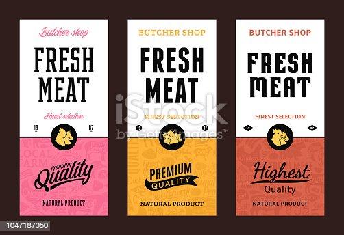 istock Vector butchery labels 1047187050