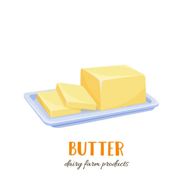 stockillustraties, clipart, cartoons en iconen met vector boter pictogram - boter