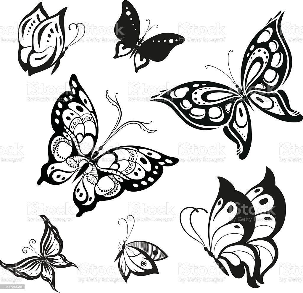 vector butterflies stock vector art 484739988 istock
