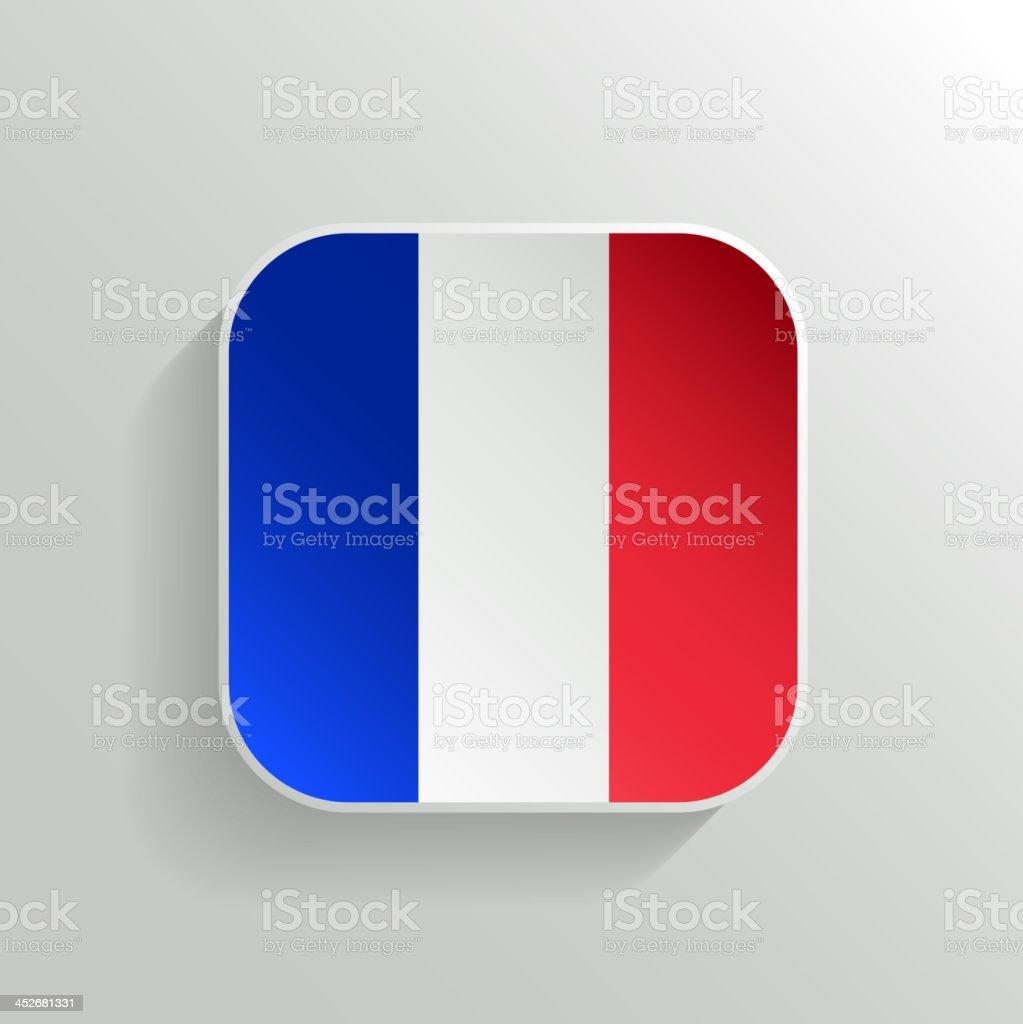 Vector Button - France Flag Icon vector art illustration