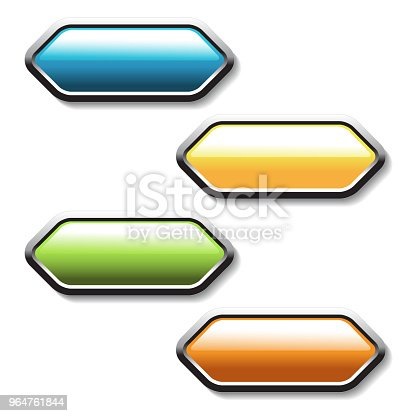 Vector Buttons Arrows Labels On The White Background Usable For A Link Read More Next Join Now Subscribe Registration Buy Now Or Menu Options Color Stickers Stock Vector Art & More Images of Aiming 964761844