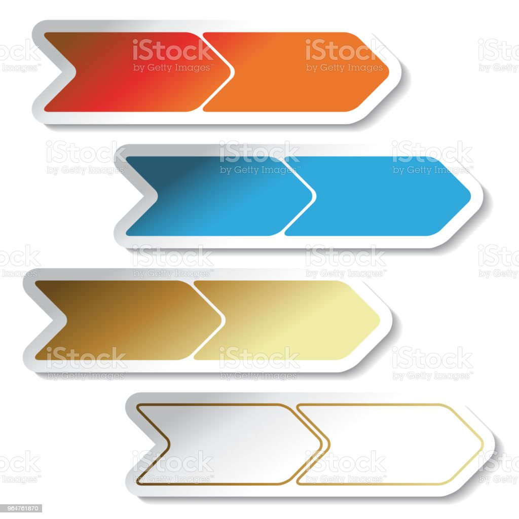 Vector buttons, arrows - labels on the white background. Usable for a link, Read more, Next, Join now, Subscribe, Registration, Buy now or menu options, color stickers royalty-free vector buttons arrows labels on the white background usable for a link read more next join now subscribe registration buy now or menu options color stickers stock vector art & more images of aiming