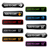 Vector buy buttons - add to cart, shopping trolley