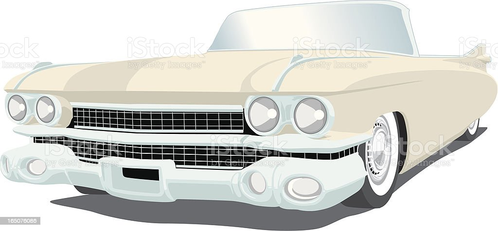 Vector Cadillac vector art illustration