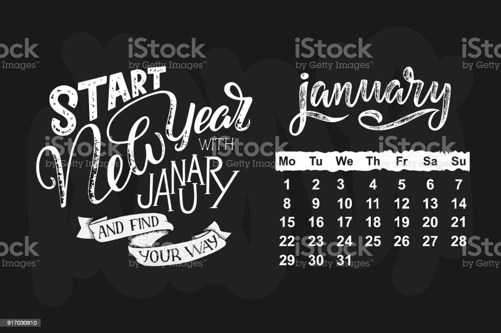 ilustración de calendario de vector de un mes del año dibujado a