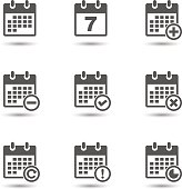 Vector calendar icons set